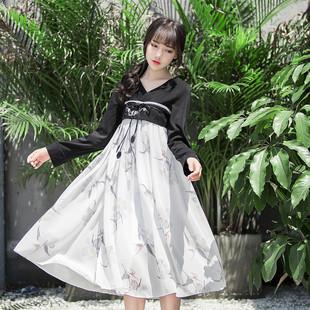 限时打折紫薰改良汉服紫熏汉元素连衣裙日常改良汉服女齐胸襦裙古