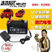 20hr童车蓄电池6伏充电器儿童四轮电动汽车电瓶3MF10 超威6V12AH图片