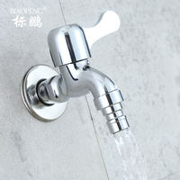 Copper washer faucet extended single cold faucet mop pool faucet dedicated 4 points water universal nozzle
