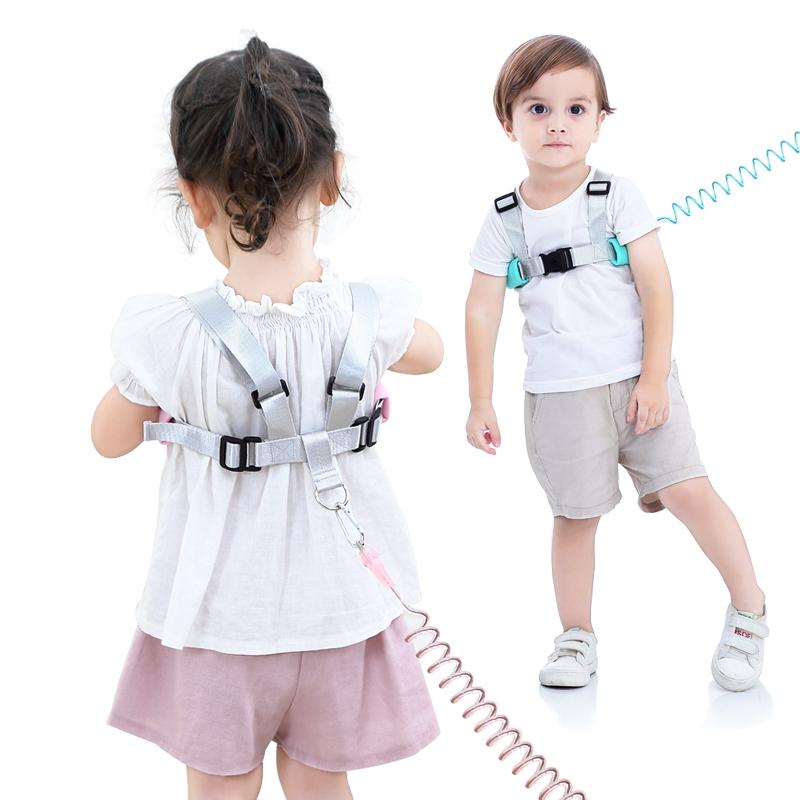 儿童防走失肩带牵引绳小孩安全学步防走丢失手环宝宝溜娃神器背包