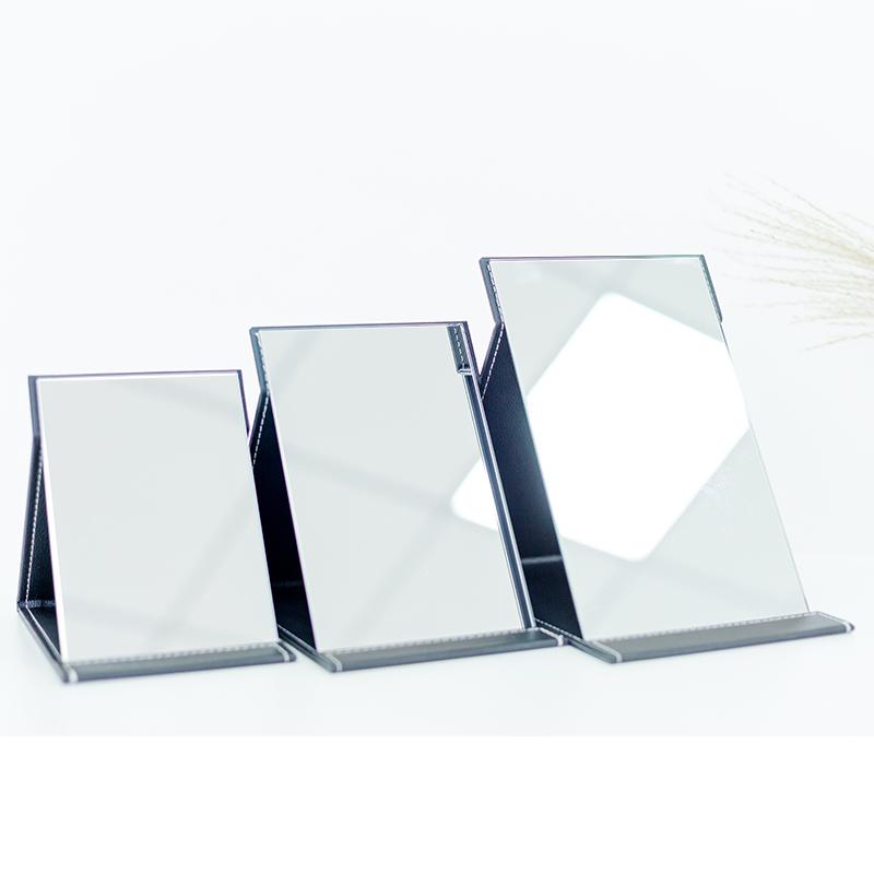 镜子化妆镜台式折叠便携随身高清学生宿舍公主大号小号桌面梳妆镜图片