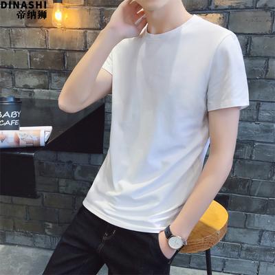 2018短袖百搭t恤男人短袖t恤新款修身夏天圆领男装夏装上衣服潮