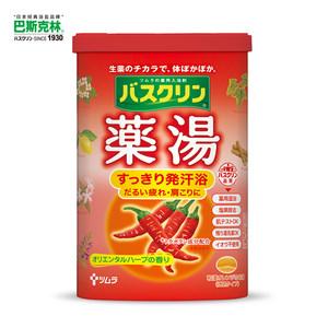 日本巴斯克林草本泡足香浴盐(辣椒) 600g  足浴盐泡脚盐泡脚粉