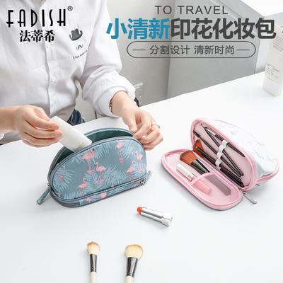 韩国化妆包小号防水简约旅行便携洗漱包手拿包可爱大容量收纳包女