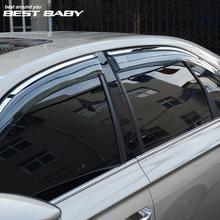 宝来晴雨挡专用于16-18宝来车窗雨眉汽车窗户遮雨板雨档防雨条