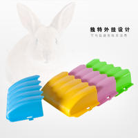 Rabbit grass frame anti-waste external rabbit grass frame rabbit cage plug-in grass feeder chinchillas guinea pig Netherlands pig supplies