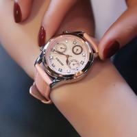 防水真皮金手表