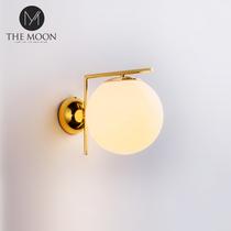 新品后现代新中式装饰灯布艺客厅卧室过道酒店会所餐厅铜美式壁灯