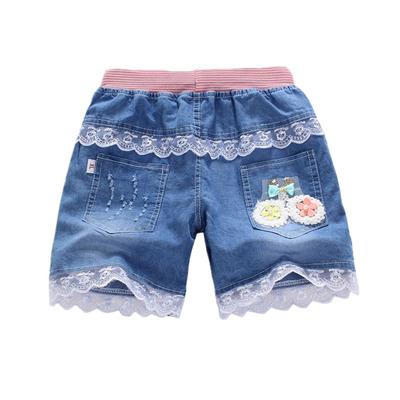 女童牛仔短裤2018新款韩版时尚洋气儿童装韩版中大童纯棉百搭薄款