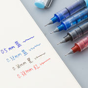 White snow straight liquid ball pen 0.38/0.5mm gel pen Student water black red pen wholesale stationery