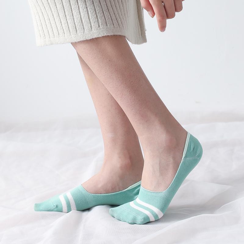 袜子女短袜浅口船袜女夏季潮隐形薄款硅胶防滑韩版中筒棉袜批发
