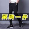 灰色小脚运动裤男