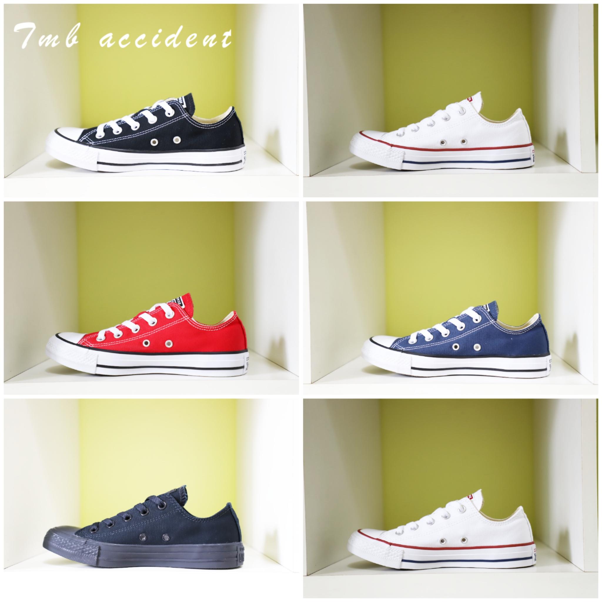 CONVERSE匡威 经典常青款黑色白色低帮男鞋女鞋情侣帆布鞋101001