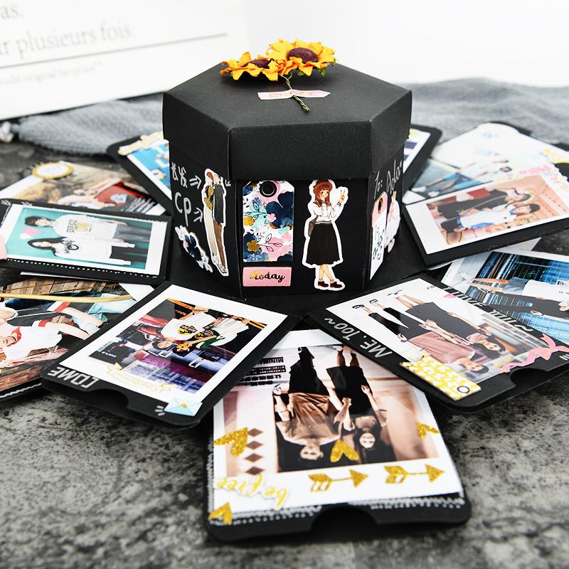 走心爆炸盒子diy手工相册创意照片定制惊喜抖音同款礼物生日热门