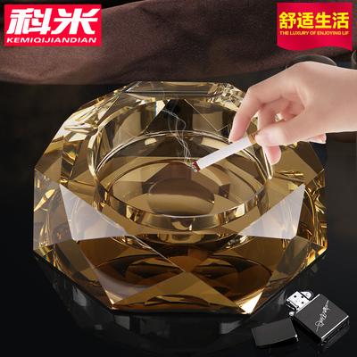 水晶烟灰缸大号客厅实用创意个性潮流多功能欧式客厅烟灰缸可定制