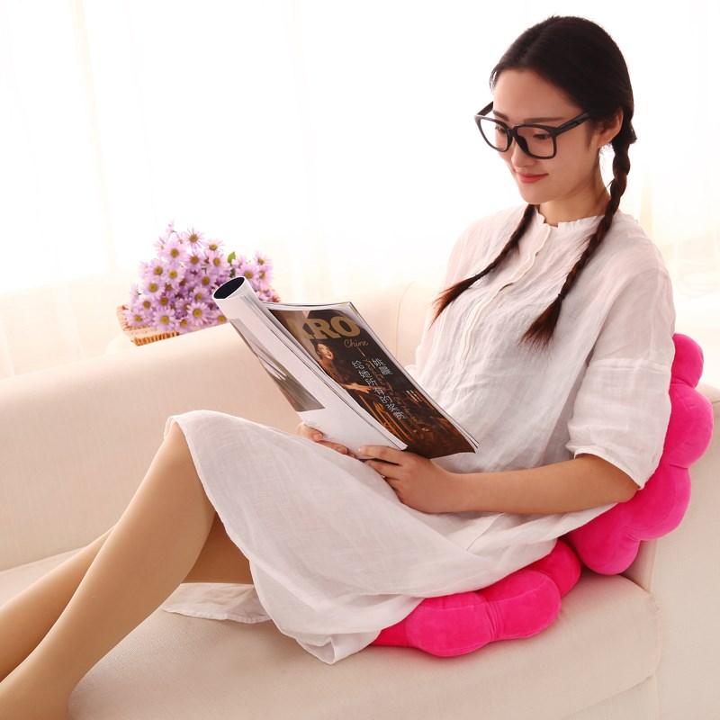 创意花朵圆形办公室椅垫坐垫凳子学生椅子可爱卡通坐垫电脑前椅垫