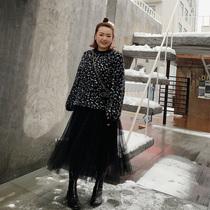 楠哥大码女装蕾丝纱裙适合胯宽胯大的女生裙子显瘦胖mm半身裙秋冬