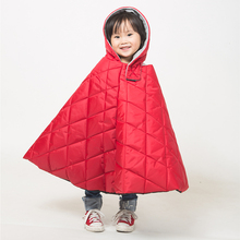 电动摩托车挡风衣亲子款冬季加厚加绒加棉儿童挡风被保暖防水面料