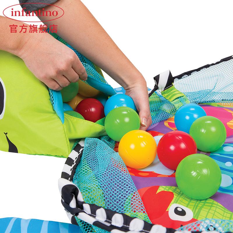 infantino美国婴蒂诺新生宝宝健身架婴儿游戏垫海洋玩具