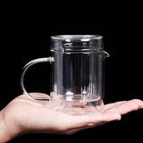 Teachat Kung Fu Tea Set Black Tea Thicken Transparent Glass Cup Liner Filter Tea Teapot Set