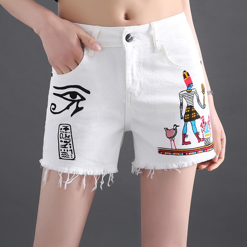 彩绘牛仔短裤
