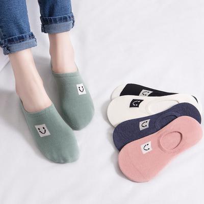 袜子女短袜浅口韩国可爱夏季纯棉船袜女士薄款低帮硅胶防滑隐形袜