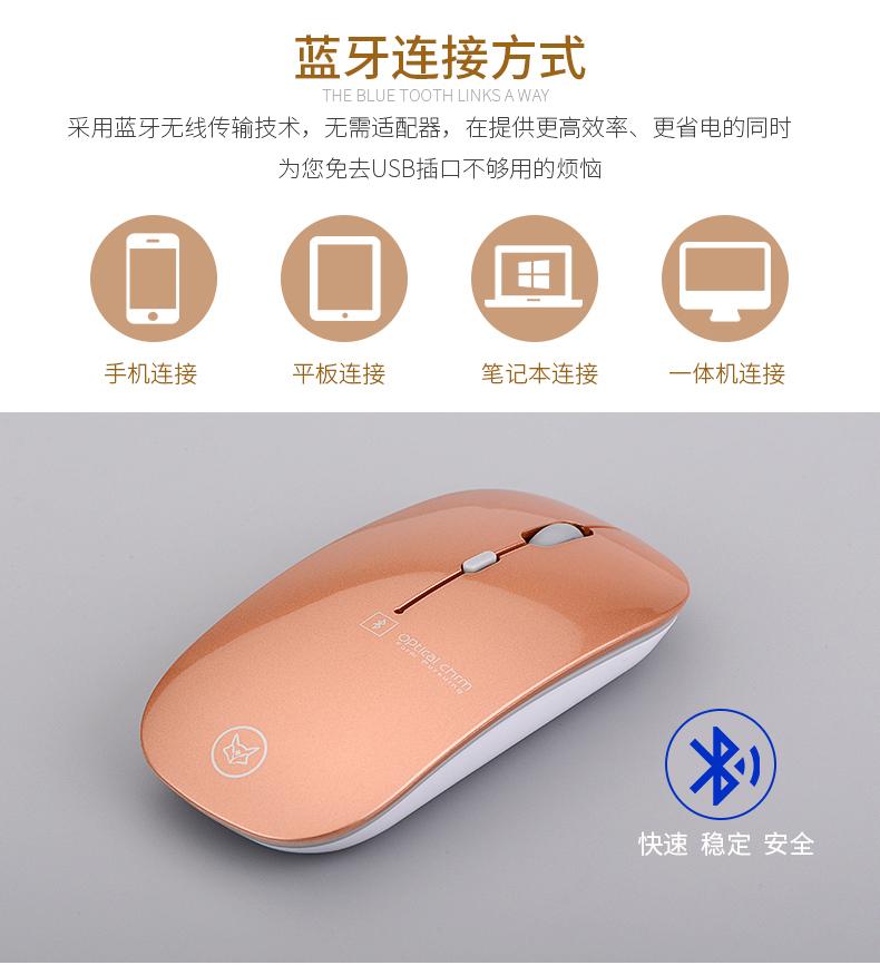 【一年换新】冰狐苹果蓝牙鼠标 静音笔记本平板电脑无线Mac可充电