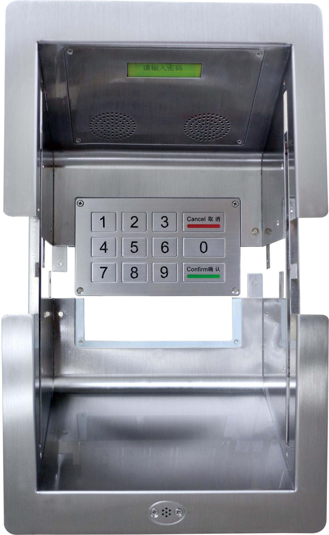 银行医院售票窗口通道槽不锈钢窗口收银槽柜台宝取款槽