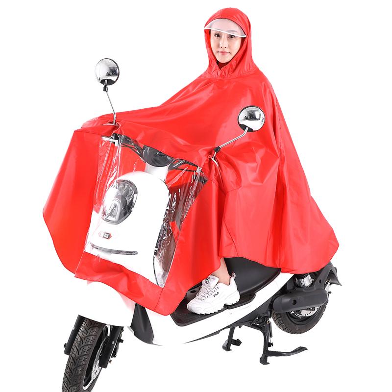 电动自行车单人雨衣电瓶摩托车成人防水骑行加大加厚男女士遮雨披