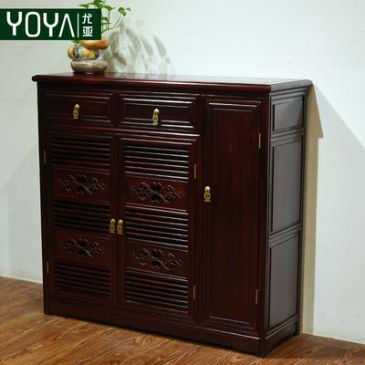 尤亚 南美酸枝鞋柜中式仿古红木鞋柜玄关柜客厅置物柜隔断柜