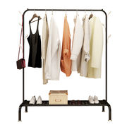Single-pole cool hanger floor simple clothes pole home bedroom clothes rack folding balcony hanging clothes rack