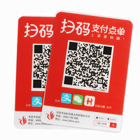 D table stickers 2D fire dining cash register table two-dimensional code scan code stickers PVC seat stickers