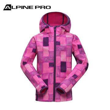 阿尔派妮AlpinePro儿童软壳户外防风保暖加厚软壳服单层冲锋衣