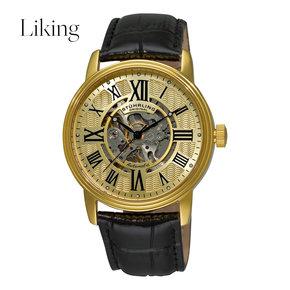 stuhrling original 男士Delphi Venezia系列金色机械手表
