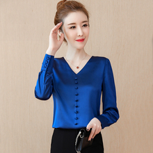 European chiffon blouse autumn dress women's wear 2018 new style of foreign style autumn and winter temperament fashion lace top clothes bottom sweater