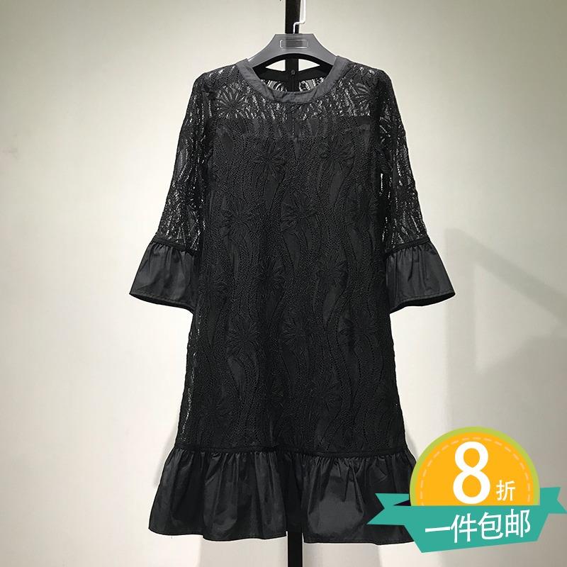 正品牌蕾丝连衣裙