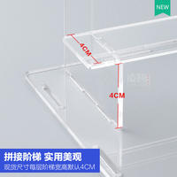High transparent multi-layer acrylic display box anime hand office doll model storage box dust box custom