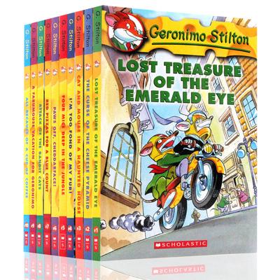 Geronimo Stilton 老鼠记者1-10册 英文进口原版儿童章节小说 彩色插图漫画青少年冒险探险丛书儿童文学桥梁书美国小学读物