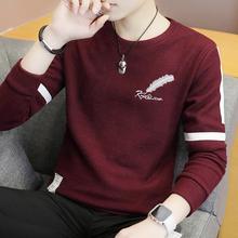 学生针织衫 秋冬季男士 毛衣青少年修身 男装 线衣 圆领打底衫 潮流韩版