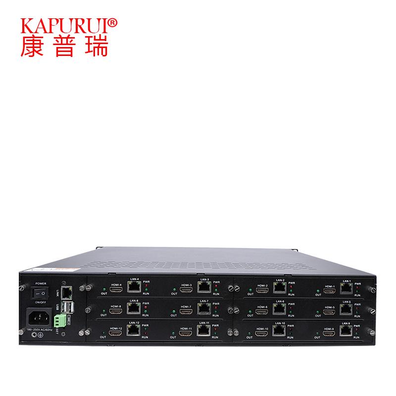 网络数字4屏高清解码器H.265解码矩阵兼容海康视频监控主机切换器