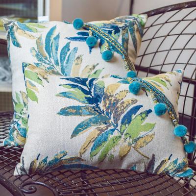 美式文艺抱枕布艺沙发靠垫客厅正方形大靠枕可拆洗靠背枕套不含芯网上专卖店