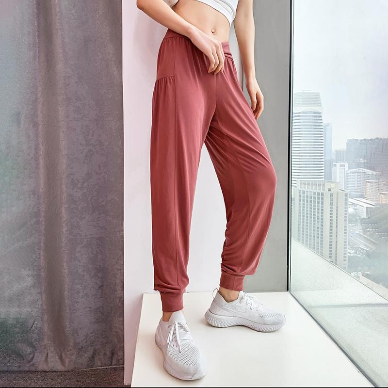 【100减30】高腰速干宽松运动裤束脚裤健身裤跑步显瘦小脚收口瑜
