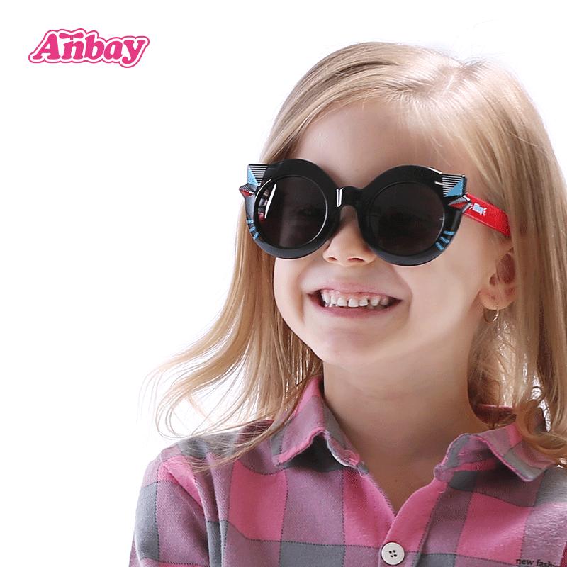 安比 儿童太阳镜偏光男童 防紫外线小孩眼镜女童遮阳镜 宝宝墨镜