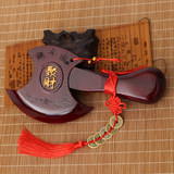 Peachwood axe pendant small wedding sit Fu Qiao moved to move the town house to create evil axe home swing pieces