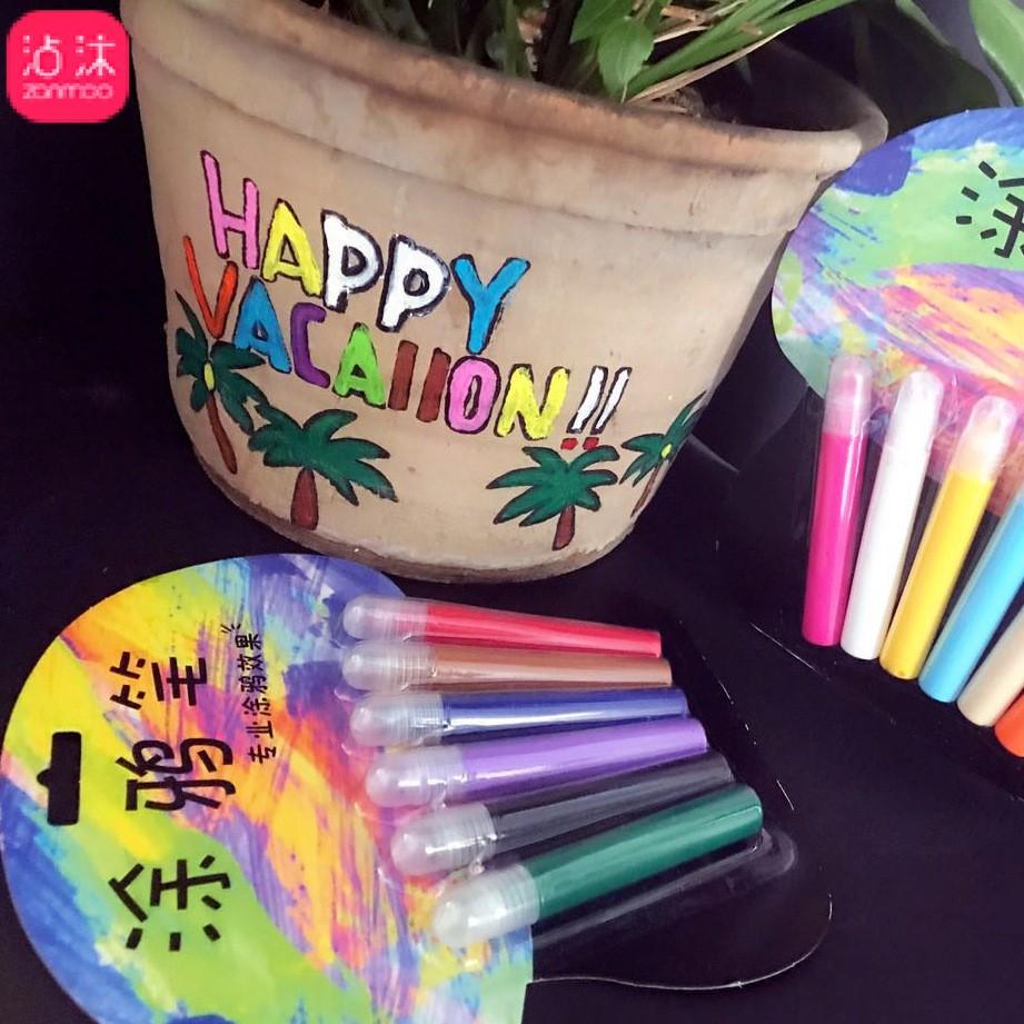 韩国创意立体6色DIY彩色手工泡泡果冻荧光水晶夜光陶瓷纺织笔