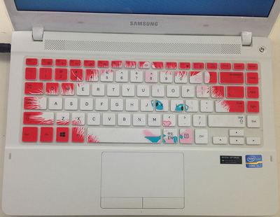 三星455R4J-X03键盘保护贴膜14英寸电脑笔记本全覆盖防尘透明可爱套罩垫彩色凹凸硅胶TPU卡通防水防灰按键护