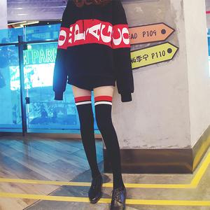 过膝袜女秋冬加厚防滑韩国学院风长筒袜美腿日系高筒袜女长袜