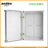 An-Sani IP65 waterproof distribution box European-style PC plastic indoor clear-packed dust anti-corrosion anti-corrosion flame retardant electrical switch cabinet