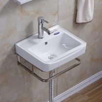卫生间大理石洗手盆挂墙式洗脸盆陶瓷洗面盆组合洗漱台洗脸池
