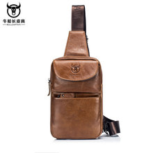 Spring and Summer Special Cattle Captain Mini-leather Men's Brassiere Head Layer Cattle Leather One Shoulder Slant Leisure Sports Trendy Bag